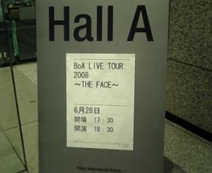 BoA LIVE TOUR 2008 ~THE FACE~ at 東京国際フォーラム ホールA 2008.6.28